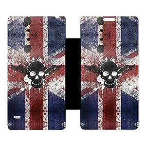 Skintice Designer Flip Cover with hi-res printed Vinyl sticker wrap-around for Sony Xperia C4