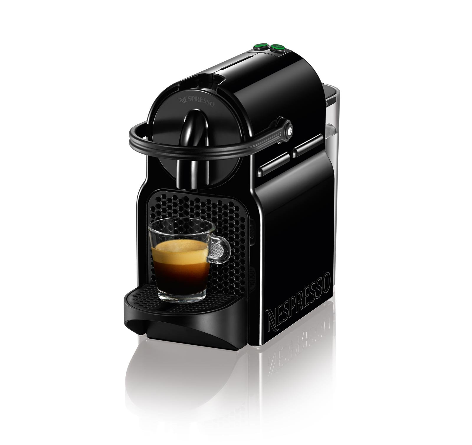 nespresso inissia espresso maker black black standard packaging ebay. Black Bedroom Furniture Sets. Home Design Ideas
