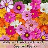 "300 Seeds, Cosmos ""Crazy Mixture"" (Cosmos sulphureus & bipinnatus) Seeds By Seed Needs"