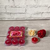 Devinez Scented Rose Smokeless Tealight Candles With Crystal Case, (Pack Of 12), 4.5 Hour Buring