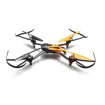Pixnor HuaXiang NO.8927 2,4 GHz 4 voies gyroscope 6 axes 360 degrés éversion Mini RC Quadcopter Drone avec 0.3MP caméra 2 GB TF carte lampe s'allume (Orange)