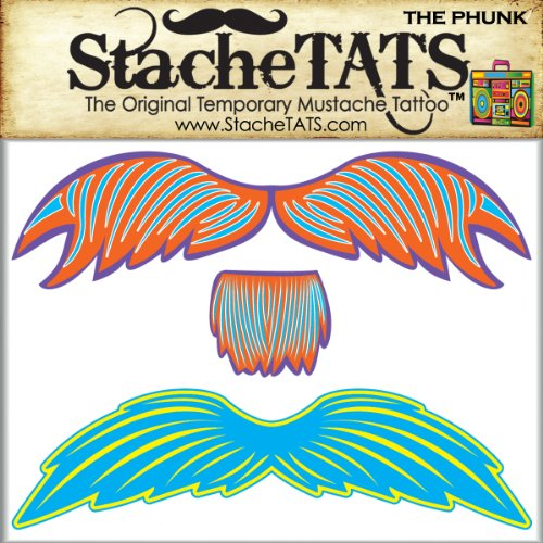 StacheTATS The Phunk Temporary Mustache Tattoo - 1