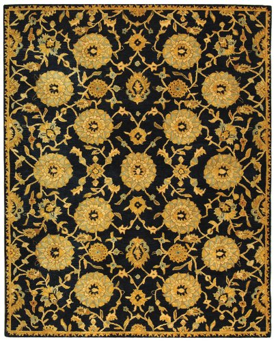 "3' x 5' Rectangular Safavieh AN537A-3 Navy Color Hand Tufted Chinese ""Anatolia Collection"" Rug"
