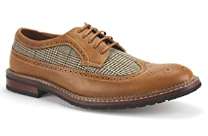 Ferro Aldo Men's 19312A Wing Tip Lace Up Vintage Oxfords Dress Shoes, Brown, 10