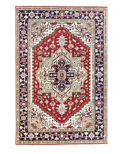 eCarpet Gallery One-of-a-Kind Hand-Knotted Serapi Heritage Rug, Navy/Red, 6' x 9'