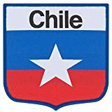 Chile Embroidery Patch 90mm x 90mm One Size