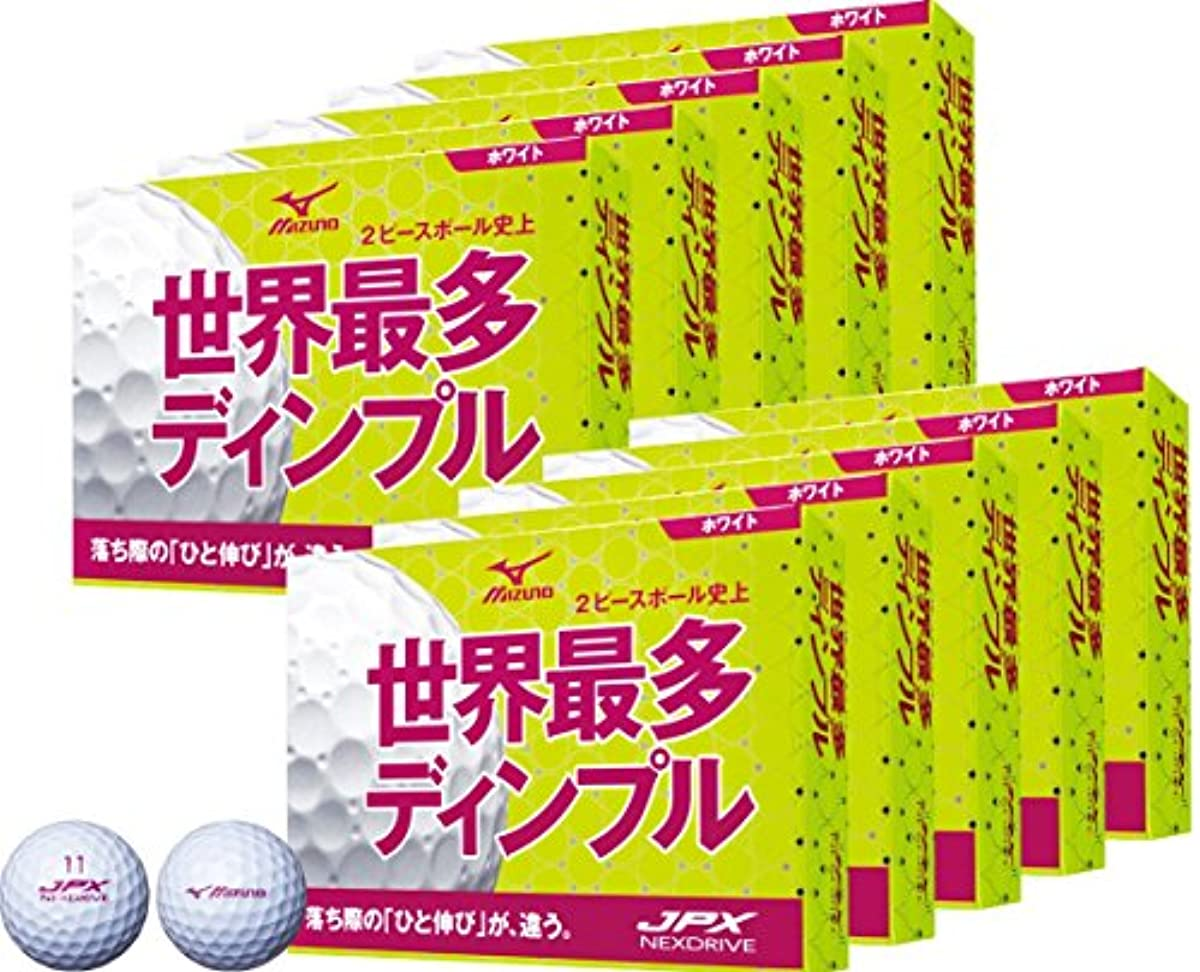 [해외] MIZUNO(미즈노) 골프 볼 JPX 네구스도라이부 10다스(120개 들이) 유니섹스 5NJBH7252012P 화이트×핑크