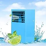 LUCKSTAR Desktop Air Conditioning Fan - Quiet Personal Mini Fan Air Cooler for R (Color: Blue/)