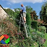 Tripod Garden Ladders with built-in Platform by Henchman - 3.0m. All 3 Legs Fully Adjustable.
