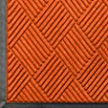 "Andersen 208 WaterHog Classic Diamond Polypropylene Fiber Entrance Indoor/Outdoor Floor Mat, SBR Rubber Backing, 4' Length x 3' Width, 3/8"" Thick, Orange"