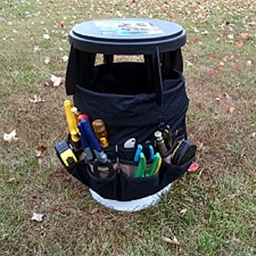 The original bucket stool for 3 5 gallon and 5 gallon for Ice fishing bucket
