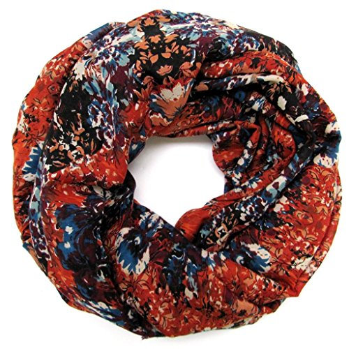 accessu-Echarpe-Foulard-pour-Femme-Floral-Print-orangepurpleblue