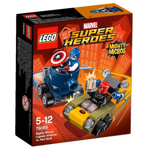 LEGO 76065 - Figurine Super Heroes Mighty Micros Capitan America Vs Teschio Rosso