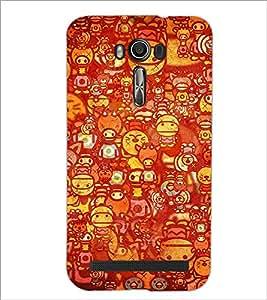 PrintDhaba Cat D-3461 Back Case Cover for ASUS ZENFONE 2 LASER ZE550KL (Multi-Coloured)