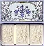 Saponificio Artigianale Fiorentino Lavender Bath Soap Set Of Three 4.40 Oz