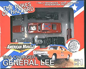 The Dukes of Hazzard - 1969 Charger - General Lee Diecast 1:64 Scale Model Kit