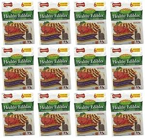 Nylabone Healthy Edible Chicken/Roast Beef Variety 72ct Regular-12x6ct