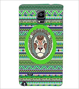 PrintDhaba Zodiac Leo D-3509 Back Case Cover for SAMSUNG GALAXY NOTE 2 (Multi-Coloured)