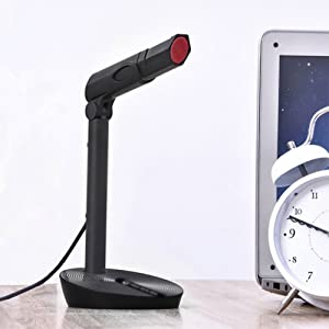 Tree New Bee TNB-MIC01 USB Plug and Play Studio Adjustable Desktop/Laptop Microphone, Black (Color: With PC Microphone)