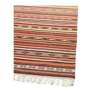 Ikea Kattrup Hand Woven Multicolor Flatwoven Reversible Wool Rug