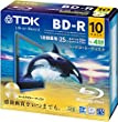 TDK �^��p�u���[���C�f�B�X�N BD-R 25GB 1-4�{�� �S�[���h�f�B�X�N 10���p�b�N 5mm�X�����P�[�X BRV25B10A