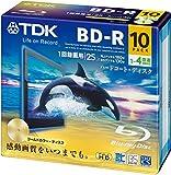 TDK 録画用ブルーレイディスク BD-R 25GB 1-4倍速 ゴールドディスク 10枚パック 5mmスリムケース BRV25B10A
