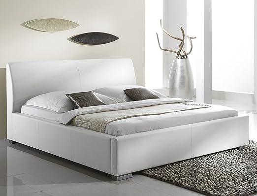 Polsterbett Bett Albero Comfort weiß Bett Kunstlederbett Seniorenbett Doppelbett Ehebett, Größe:100 x 200