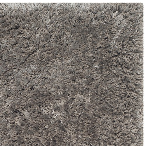 Safavieh South Beach Collection SBS562B Handmade Silver Polyester Area Rug, 2 feet 3 inches by 4 feet (2'3