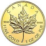 カナダ メイプルリーフ 50ドル金 ゴールド コイン 31.1グラム 2010年製造 24K 1オンス 純金 インゴット金貨 カプセル クリアーケース付き