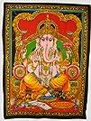 Cotton Fabric Ganesh  Ganesha  Ganpati Yoga Tapestry 308243