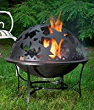 "25"" Handcrafted Starry Night Steel Fire Dome with Fire Pit"