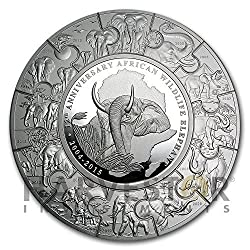2015 SO Silver Elephant 1 Kilo Puzzle Coin 2,000 Shillings 32.15 oz. Pure Silver - ONLY 215 EXIST Puzzle Coin Anniversary Edition Shilling Brilliant Uncirculated UC