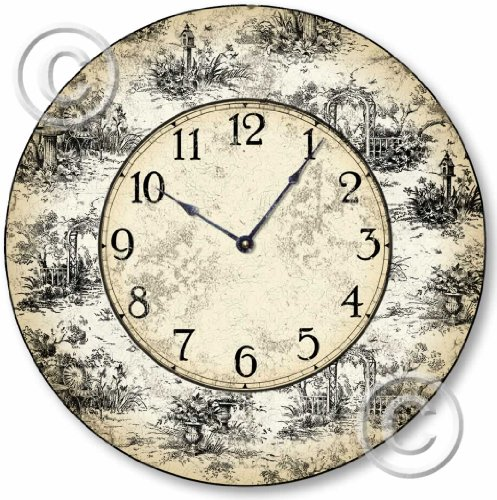 Item C6021 French Toile Vintage Style Clock