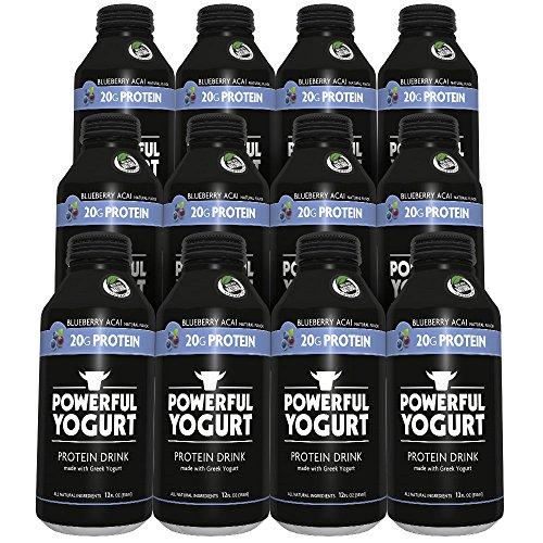 Powerful Yogurt Protein Drink, Greek Yogurt Blueberry Acai, 12 Count (Acai Yogurt compare prices)