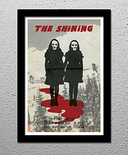 The Shining Jack Nicholson Stanley Kubrick Stephen King Horror Movie - Original Minimalist Art Poster Print