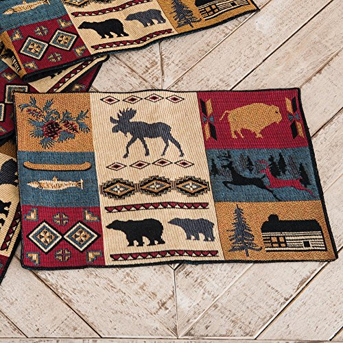 Rustic Lodge Placemat - Lodge Kitchen Tableware (Rustic Kitchen Ware compare prices)