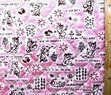 <Qキャラクター・キルティング生地>アナと雪の女王(オラフ柄)(ピンク)#6