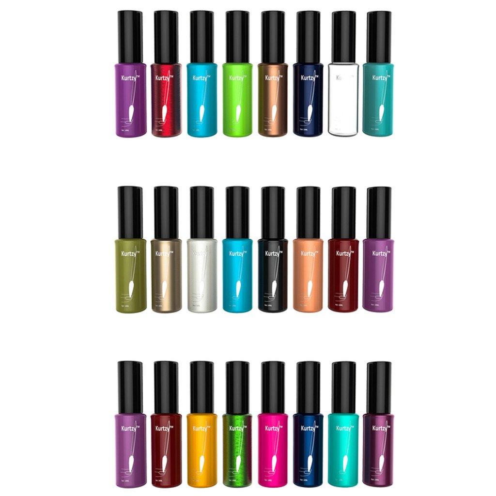 24 esmaltes para uñas de alta calidad de colores variados metálicos ...