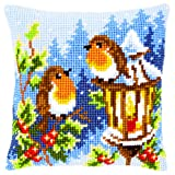 Vervaco Cross Stitch Cushion Robins at the Lantern