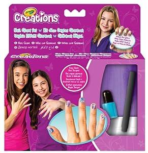 Crayola Créations - 04-7012-e-000 - Kit De Loisirs Créatifs - Déco Ongles Métalliques