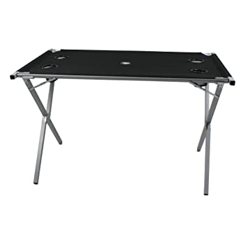 42 x 42 x 46 cm Noir//Argent Outwell Baffin Table Mixte