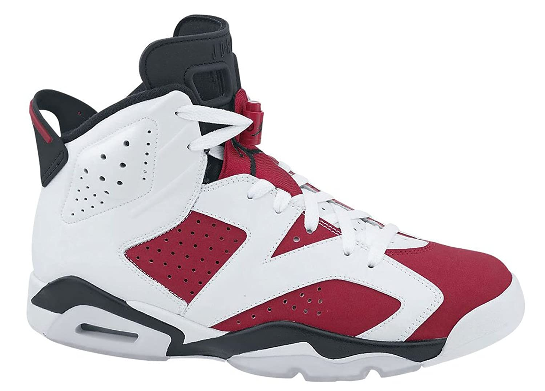 Nike Air Jordan 6 Vi Retro Men's Basketball Shoes White/Black/Carmine 384664-160 (SIZE: 11.5) nike roshe tiempo vi qs black metallic gold white
