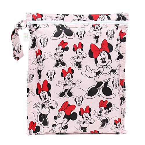 Bumkins Disney Baby Zippered Wet Bag, Minnie Mouse Classic (Bumkins Wet compare prices)