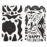 Martha Stewart Pumpkin Stickers, Monsters Glittered