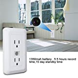 Spy Camera Outlet Fuvision Motion Activated Hidden Camera with 1080P FHD Pinhole Camera 15 Days Battery Life and 16GB Memory Loop Recording DVR Perfect for Home Security and Surveillance(Decoy Outlet) (Color: White Outlet, Tamaño: mini spy camera)