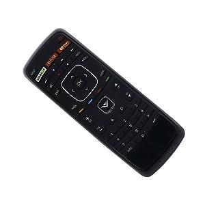 Vizio XRT112 Factory Original Replacement Smart TV Remote Control (Amazon / NetFlix / iHeartRadio) - New 2017 Model (Color: Black)