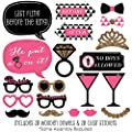 Girls Night Out - Bachelorette Party Photo Booth Props Kit - 20 Count by Big Dot of Happiness, LLC
