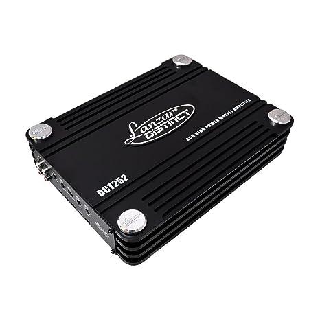 Lanzar DCT252 Amplificateur à FET avec 2 canaux Classe AB 3000 W Noir