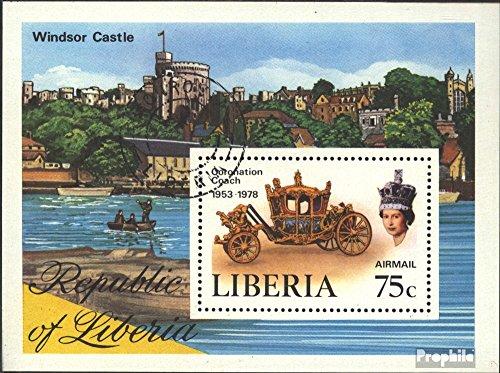 Liberia Block91A (kompl.Ausg.) gestempelt 1978 Jahrestag Krönung Elisabeth II. (Briefmarken für Sammler)