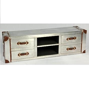 Phoenix Arts de diseño industrial de la vendimia de la televisión de registro de gabinete de aluminio de baúl de mueble para Loft Aviator de muebles de 501